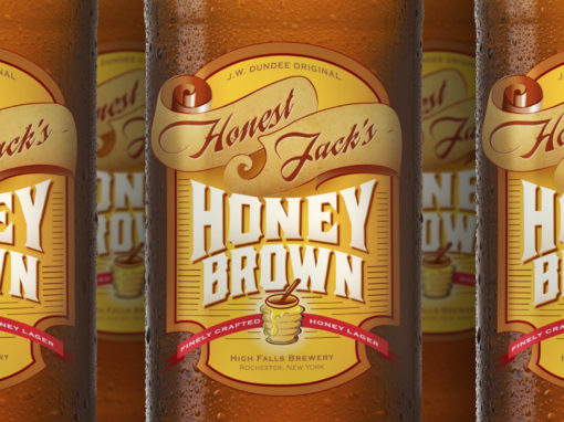 Honey Brown Beer Label Design