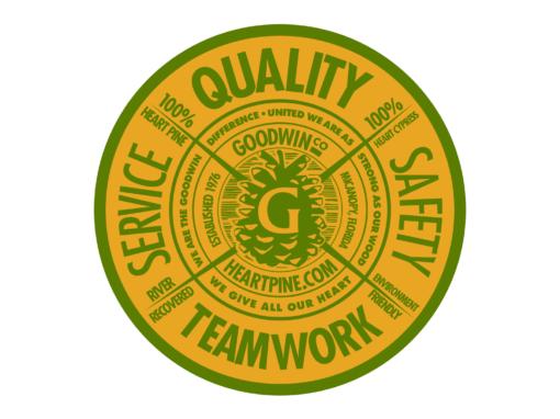 Wood Flooring Company Crest Logo