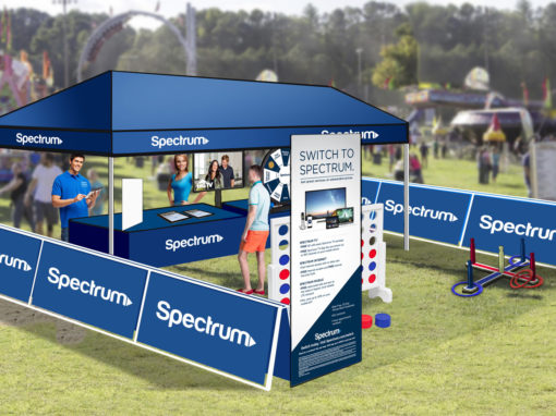 Cable Marketing 20×20 Footprint with Lawn Game Activities