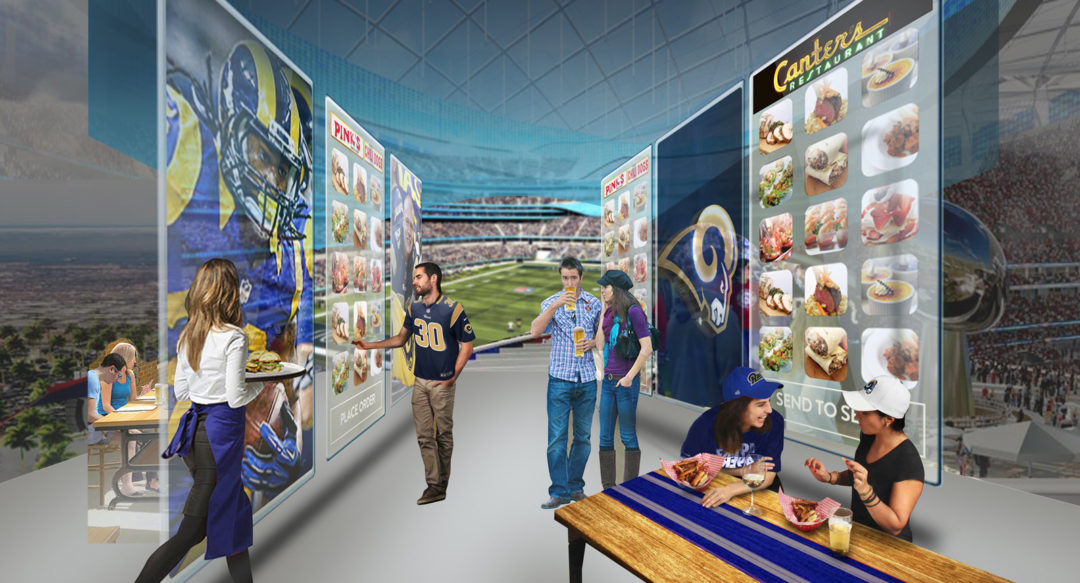 Future Concessions Concept Design for Hospitality Sports Stadium