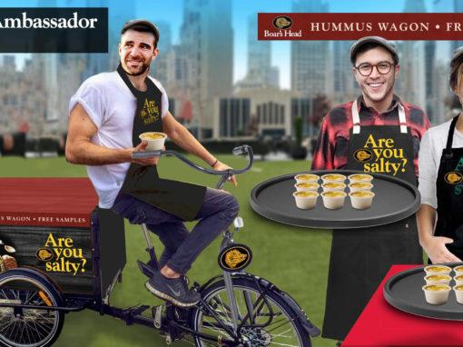 Guerrilla Marketing Concept Refrigerated Sampling Trike