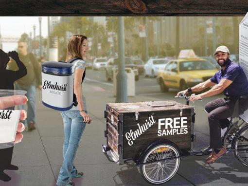 Guerrilla Marketing Sampling Team and Trike