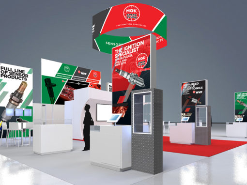AAPEX Tradeshow Booth Design for Spark Plugs Brand