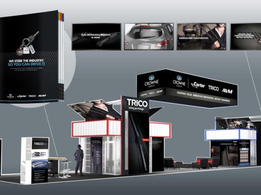 Automotive Tradeshow Family of Brands Branding
