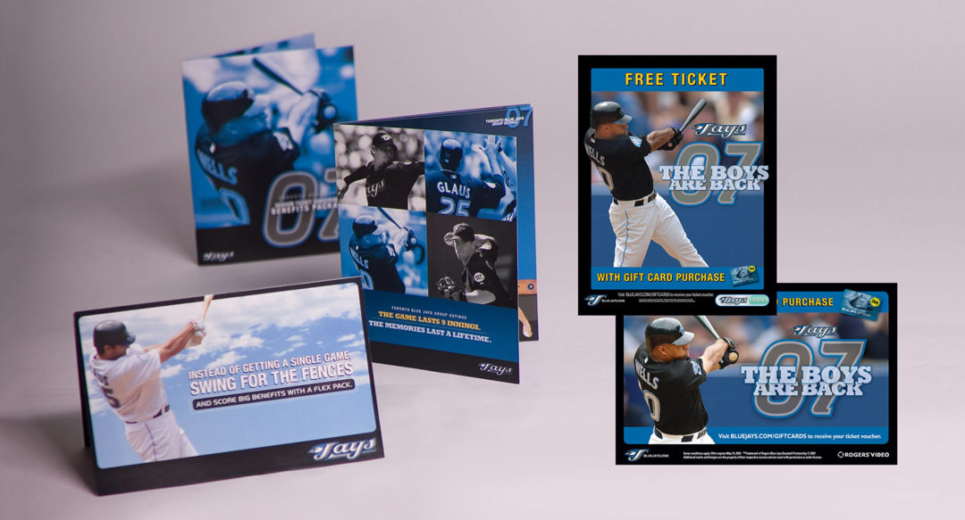 Baseball Campaign Ticket Sales Direct Mailer Brochures