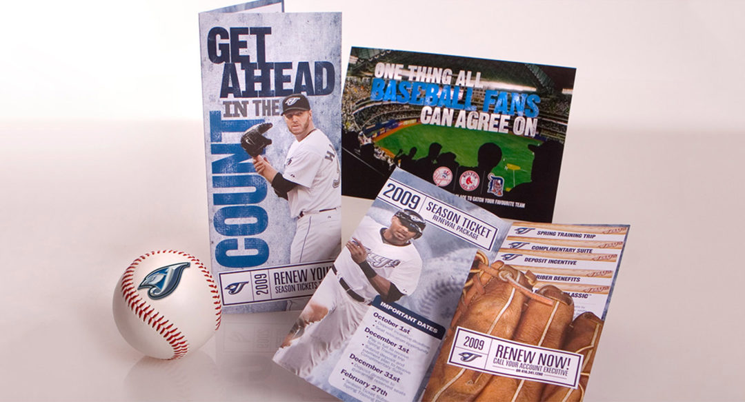 Baseball Campaign Ticket Sales Direct Mailer Diecut