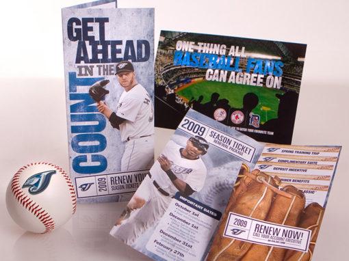 Baseball Campaign Ticket Sales Direct Mailer Diecut