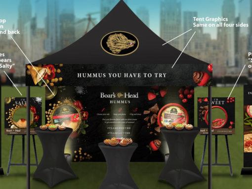 Branded Snack Sampling High End Outdoor Activation
