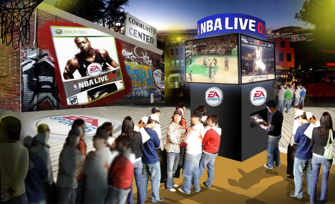 Video Game Outdoor Kiosk Concept Art