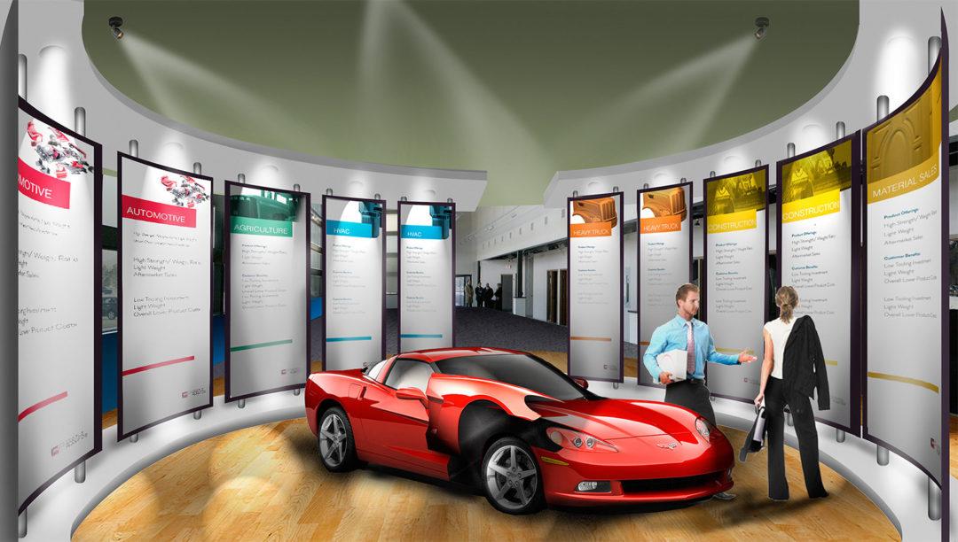 Automotive OEM Showroom Concept Design