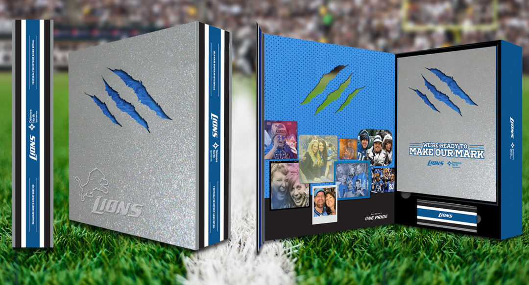 Diecut Box Packaging Design for Football Team Retail and Binder