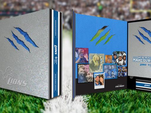 Diecut Box Packaging Design for Football Team Retail and Binder