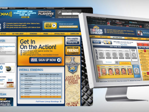 Hockey Team Website Game Mockup Design