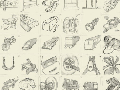 Icon System Sketch Drawings