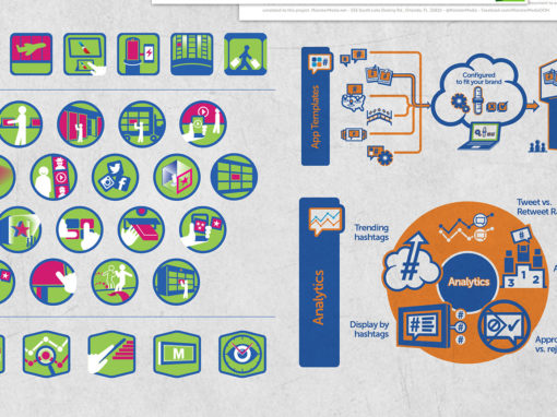 Interactive Technology Icons and Infographics Design