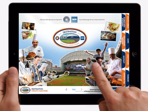 iPad Design for Baseball Team Concessions Interactive Presentation