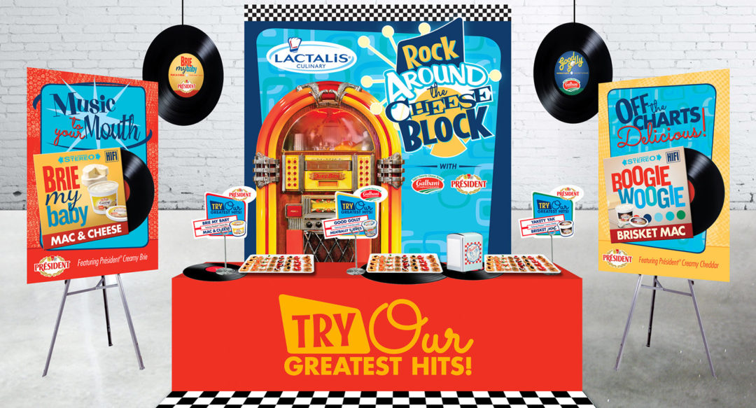 Jukebox Theme Event Design for Corporate Meeting including Product Sampling