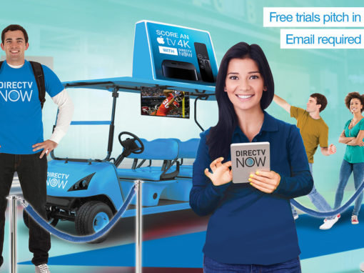 Mobile Marketing Signup for Free Trial Golf Cart