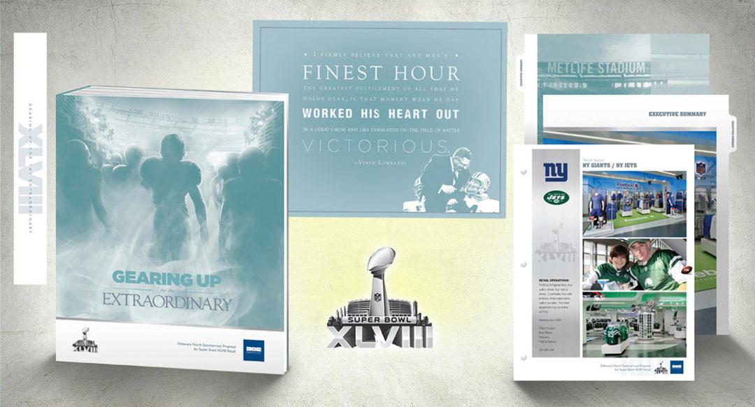 Retail Proposal Binder Presentation Design for NFL