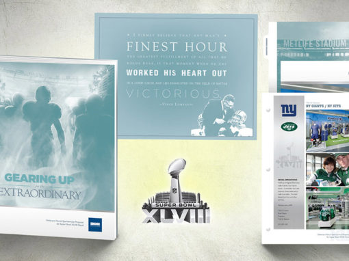 Retail Proposal Binder Presentation Design for NFL