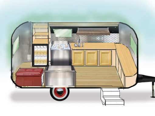 Trailer Design Plan Rendering