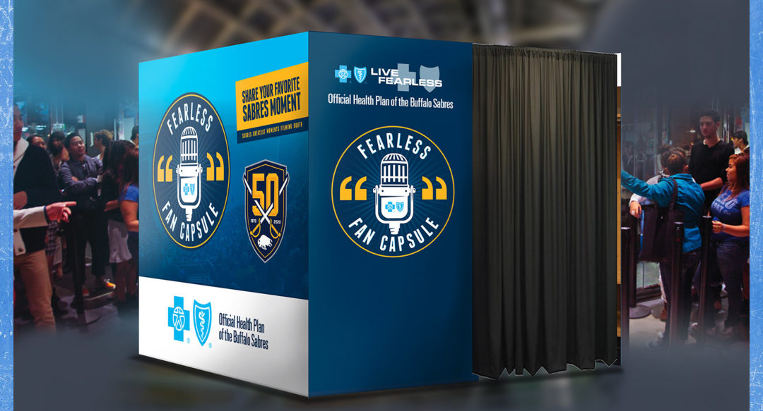 Video Booth at Hockey Game Entrance