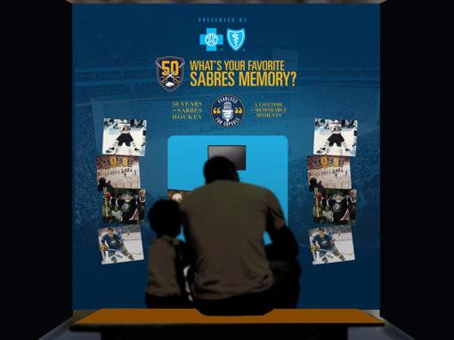 Video Message Box at Hockey Game