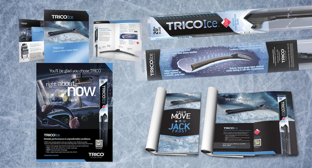 Winter Wiper Blade Branding Design