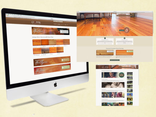 Wood Flooring Company Website Redesign