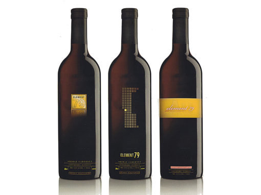 Australian Gold Wine Bottle Graphic Design