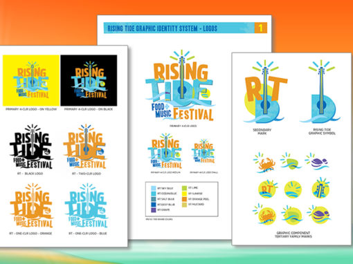 Beach Music Festival Brand Guideline Design