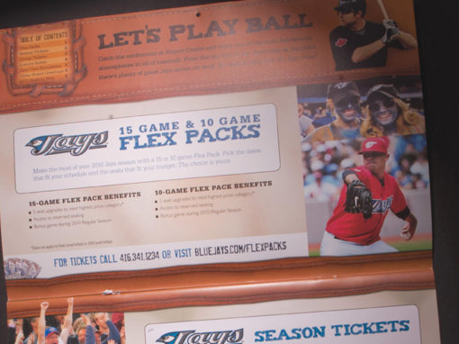 Direct Mail Baseball Glove Leather Promotional Ticket Sales