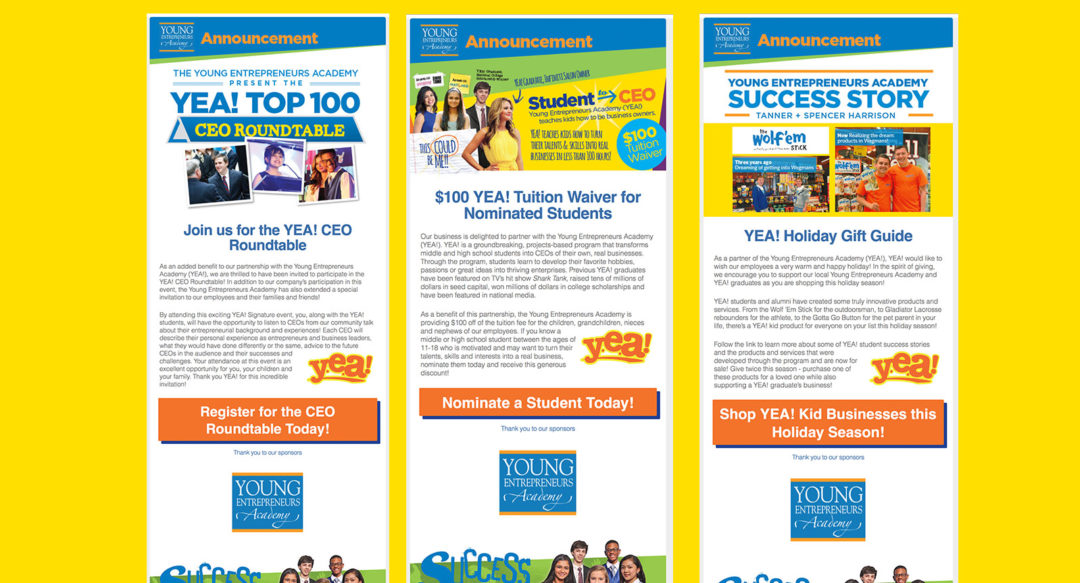Educational HTML Email Campaign Design