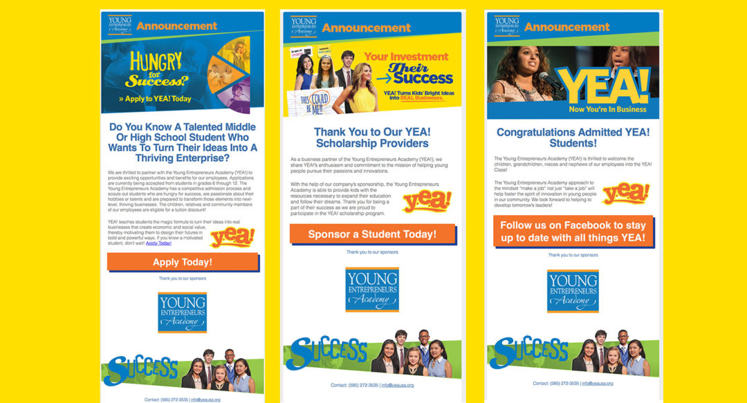Educational HTML Email Campaign Graphic Design