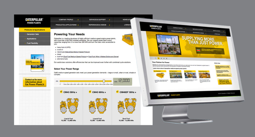 Heavy Machinary Website Design for Caterpillar Power Systems