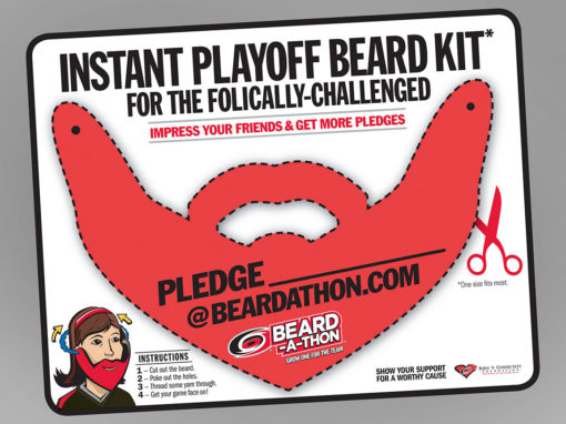 Hockey Beardathon Beard Cutout Kit