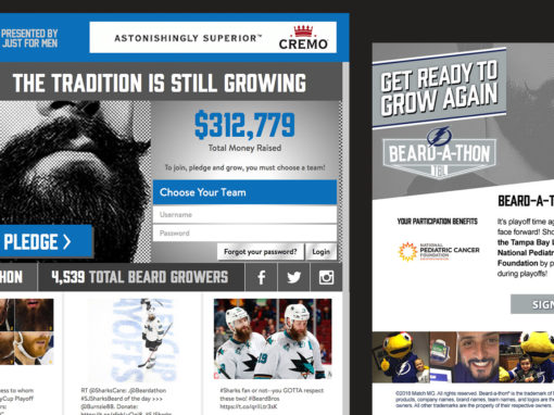 Hockey Fundraising Website Design – Beardathon.com