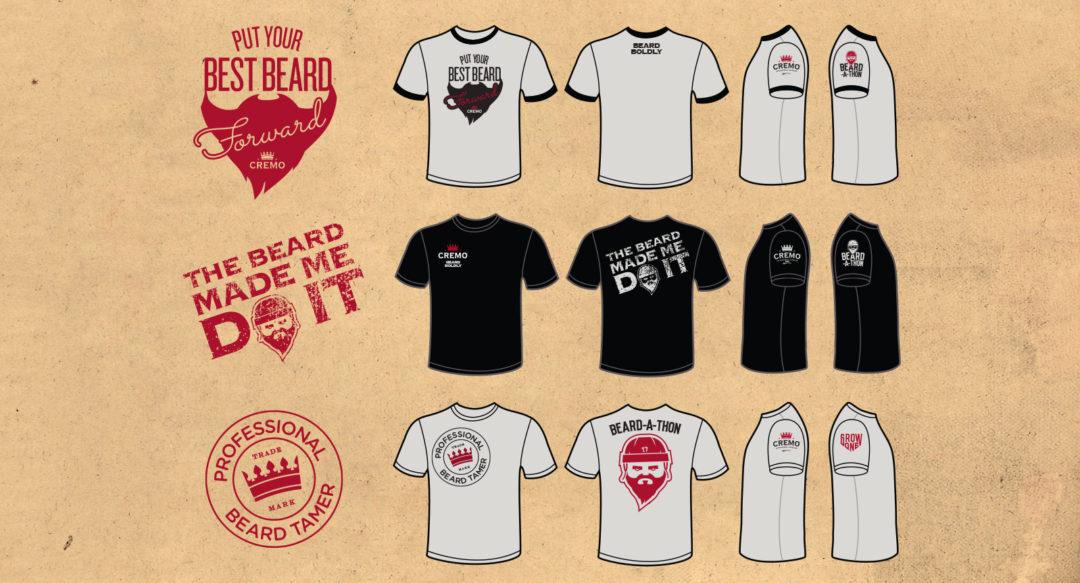 Hockey Promotional Shirt Design Options Beard Themed