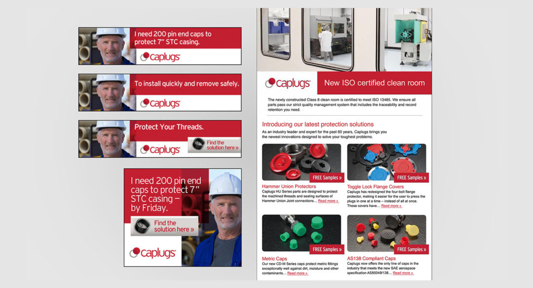 Industrial Group Product Sales Email Campaign Design