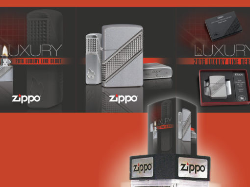 Luxury Product Point of Sale Graphic Design Zippo