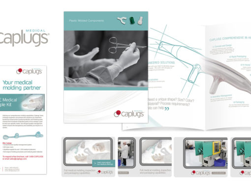 Medical Supply Parts Marketing Collateral Design