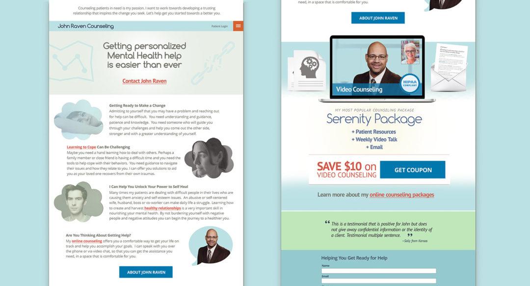 Mental Health Counselor Personal Branding Website Design – johnravencounseling.com