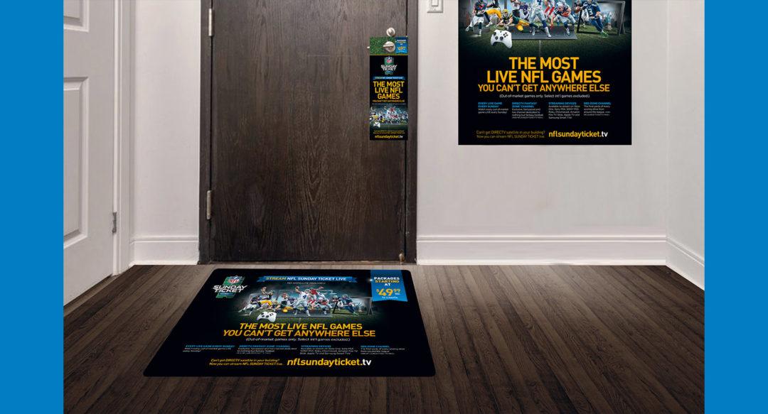 NFL Streaming Ad Campaign Floor Graphics Door Hangers