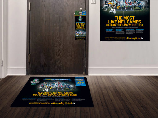 NFL Streaming Ad Campaign Floor Graphics Door Hangers