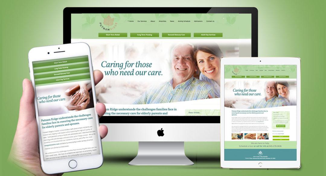 Nursing Home Assisted Living Website Responsive Design