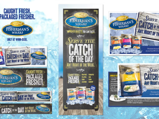 Seafood Grocery Point of Sale Graphic Design