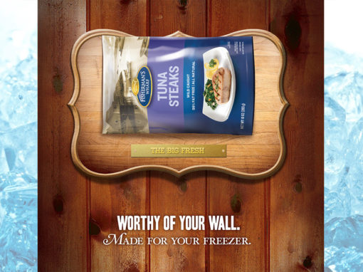 Seafood Tuna Advertising Campaign in store