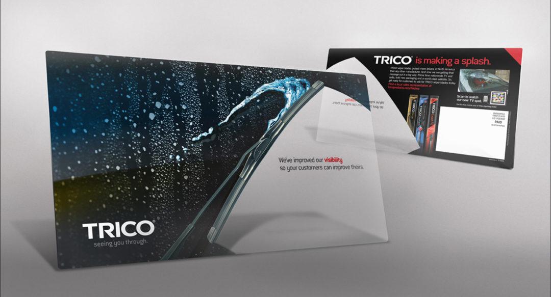 Transparent Direct Mail Postcard Design for Wiper Blade Company