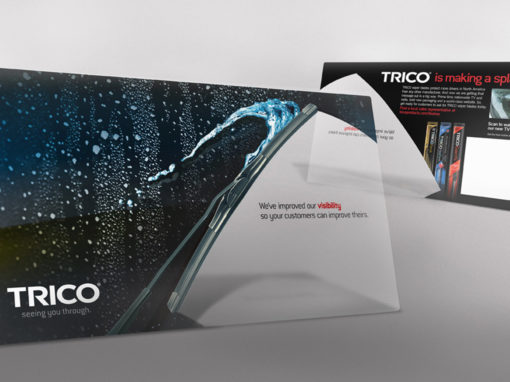 Transparent Direct Mail Postcard Design for Wiper Blade Company