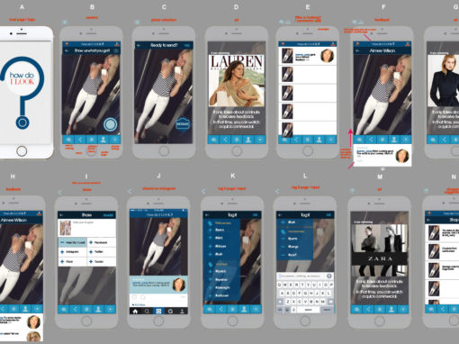 "User Interface and experience for concept fashion app ""How Do I Look?"""